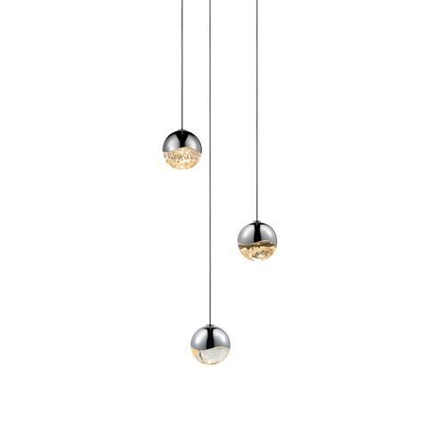 Sonneman - A Way of Light - Grapes® LED Pendant [Size=3-Light Small, Color/Finish=Polished Chrome, Shape=Round Canopy]