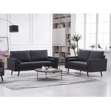 See Details - 8112 2PC DARK GRAY Linen Stationary Living Room SET