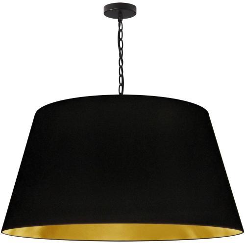 1lt Brynn X-large Pendant, Blk/gld Shade, Black