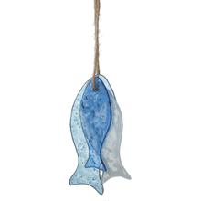 3 Glass Fish on Jute String