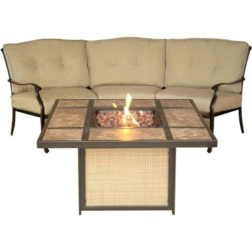 Hanover Traditions 2-Piece Seating Set with Tile-Top Fire Pit, TRADTILE2PCFP