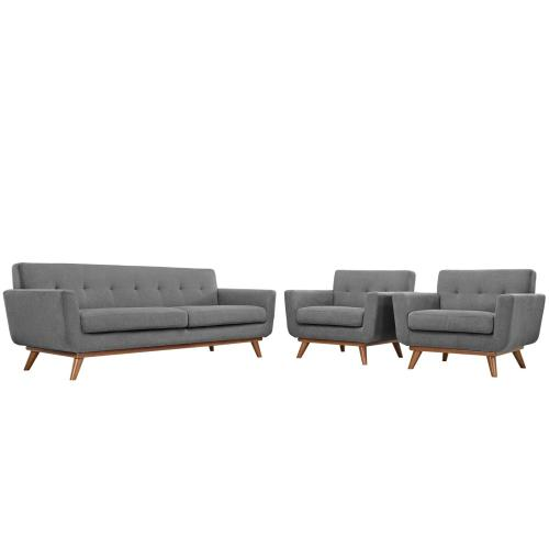 Engage Armchairs and Sofa Set of 3 in Expectation Gray