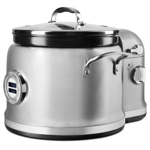 4-Quart Multi-Cooker with Stir Tower Accessory - Stainless Steel