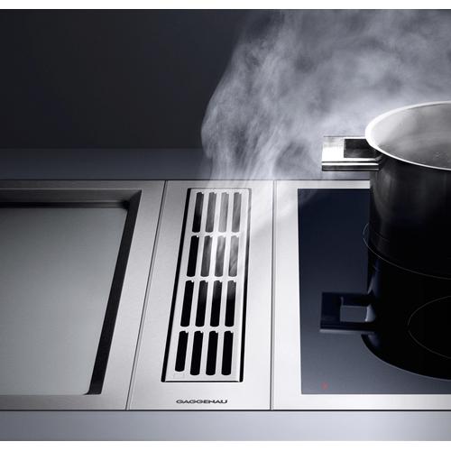 Gaggenau - Vario downdraft ventilation 400 series VL 414 110 Stainless Steel Vaentilation element. Air extraction/recirculation with remote fan unit AR 400/401/413