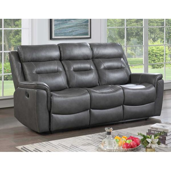 Nash Reclining Sofa w/Dropdown Table