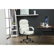 1157 WHITE Faux Leather Office Chair