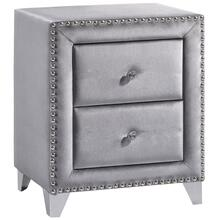 "Sophie Grey Velvet Night Stand - 23.5"" W x 16"" D x 27.5"" H"