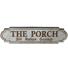 """The Porch"" Galvanized Wall Decor"