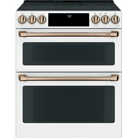 """Café™ 30"""" Smart Slide-In, Front-Control, Radiant and Convection Double-Oven Range"""