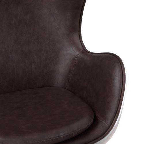 Axis PU Swivel Rocker Chair Aluminum Frame, Distressed Java
