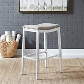 Backless Uph Barstool- Antique White