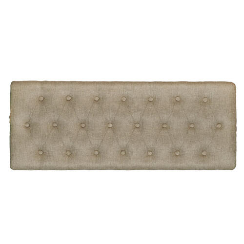 Hinged Top Button Tufted Storage Bed Bench in Soft Beige