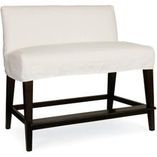 C7000-53 Slipcovered Dual Seat Counter Bench