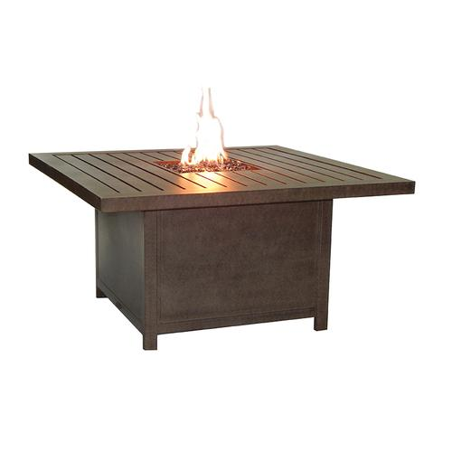 """Castelle - 44"""" Moderna Square Firepit Coffee Table"""