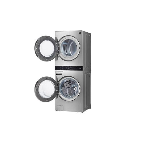 LG STUDIO Single Unit Front Load WashTower™ with Center Control™ 5.0 cu. ft. Washer and 7.4 cu. ft. Gas Dryer
