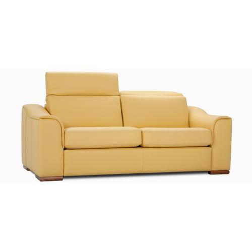 Leonardo Apartment sofa (095; Wood legs - Cognac C33)