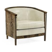 Buckingham Bleached Mahogany Tub Chair, Upholstered in Castaway