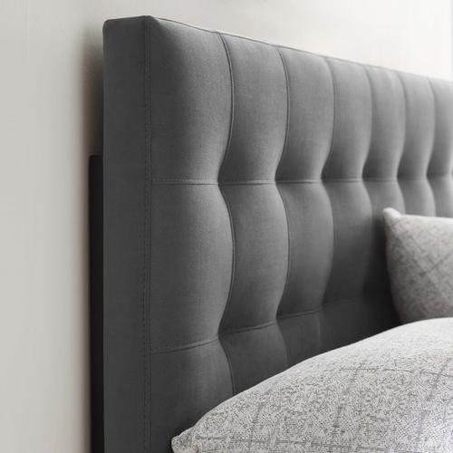 Modway - Lily Biscuit Tufted Full Performance Velvet Headboard in Gray