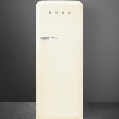 """Approx 24"""" 50'S Style Refrigerator with ice compartment, Cream, Right hand hinge"""
