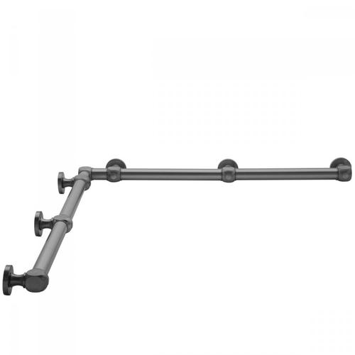 "Matte Black - G70 36"" x 60"" Inside Corner Grab Bar"