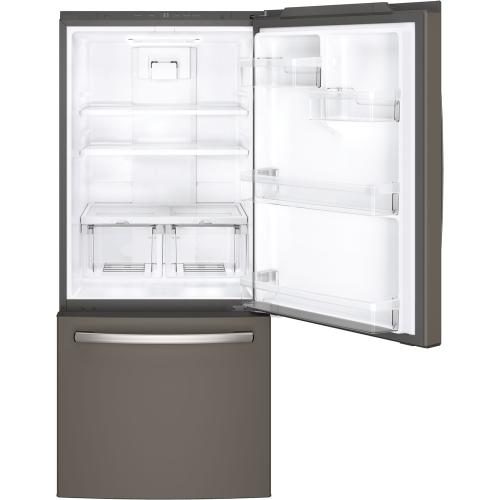 GE 20.9 cu.ft. Bottom Freezer Refrigerator Slate GDE21DMKES