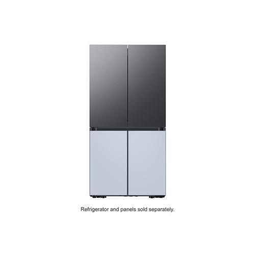Samsung - BESPOKE 4-Door Flex™ Refrigerator Panel in Matte Black Steel - Top Panel
