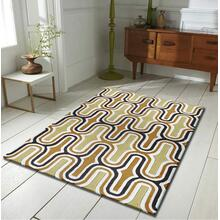Durable Hand Tufted Transition TF36 Area Rug by Rug Factory Plus - 5' x 7' / Two-tone Yellow