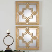 Piazzale Mirrored Wall Squares, S/2