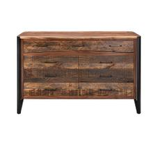 Hampshire 9 Drawer Dresser With Black Metal