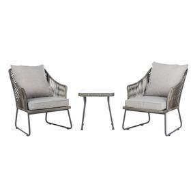 Jensen 3pc Lounge Set - Grey / Grey