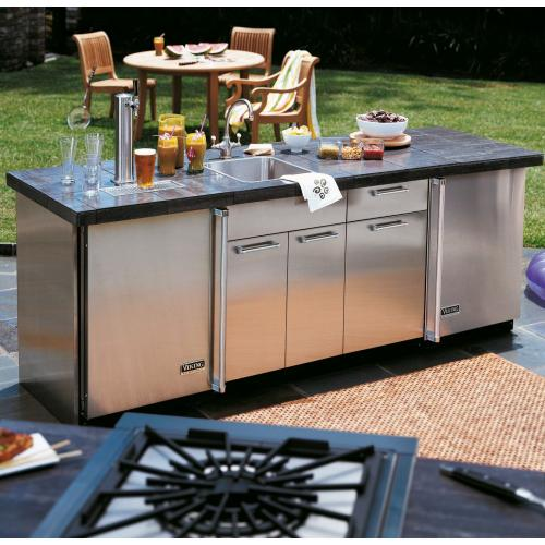 "30""D. Sink Base Cabinet - VSBO2402 Outdoor Stainless Steel Cabinets"