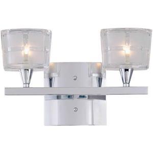 2-lite Vanity Lamp, Chrome/sand Blasted Glass, Jcd/g9 40wx2