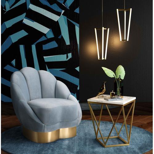 Tov Furniture - Bloom Sea Blue Velvet Chair