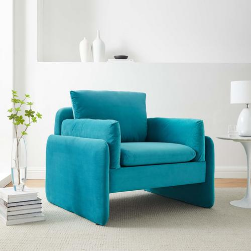 Modway - Indicate Performance Velvet Armchair in Blue
