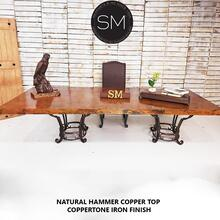 See Details - Bestseller Luxury Modern Desk-Conference Table -1231 R - 9' / Natural Copper / Dark Rust Brown