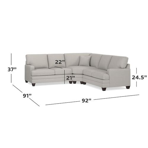 CU.2 L-Shaped Sectional, Arm Style Track