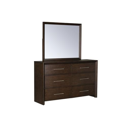 Brentwood Dresser with Mirror, Brown