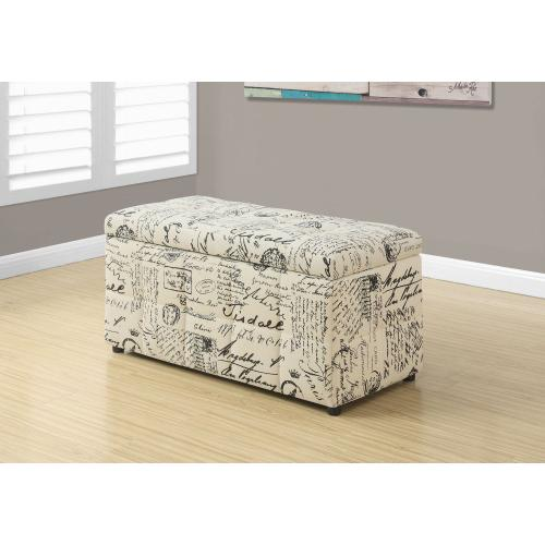 """Gallery - OTTOMAN - 38""""L / STORAGE / VINTAGE FRENCH FABRIC"""