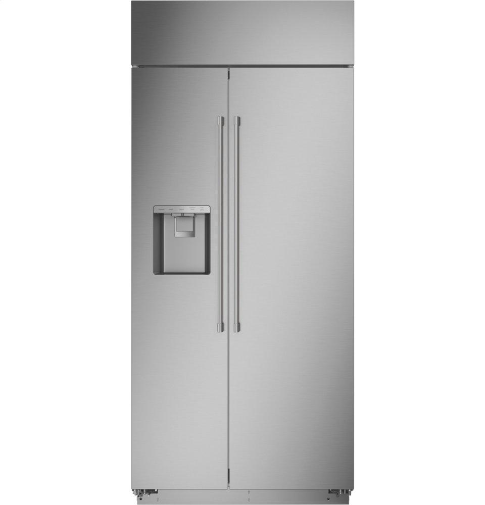 "MonogramMonogram 36"" Smart Built-In Side-By-Side Refrigerator With Dispenser"