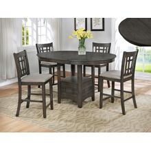 Hartwell Grey 5 Pc Counter Height Grey Dinette Set by Crown Mark, Model 2795