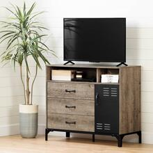 Tv Stand for TVs up to 42\ - Weathered Oak and Matte Black