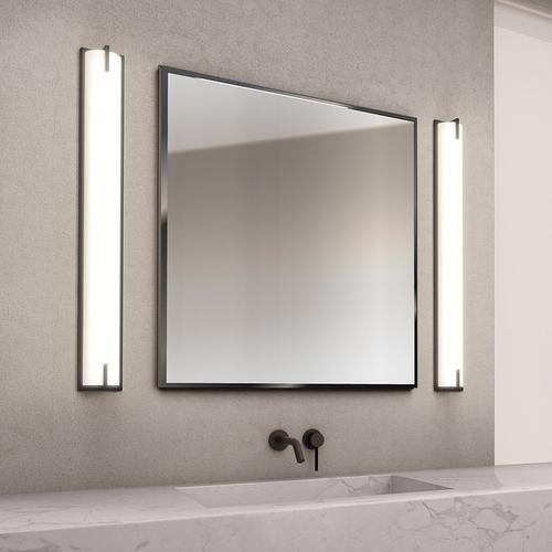 "Sonneman - A Way of Light - New Edge Bath Bar [Size=24"", Color/Finish=Satin Black]"