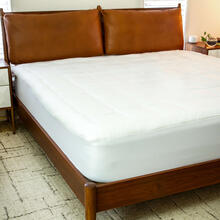 """Mattress Pad - White Deep Pocket Mattress Cover - King Size - Quilted Cotton Top - Hypoallergenic - Fits 8""""-21"""" Mattresses"""