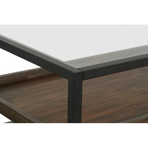 Copeland Coffee Table With Casters, Brown