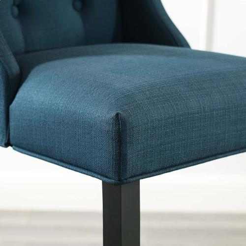 Baronet Tufted Button Upholstered Fabric Bar Stool in Azure