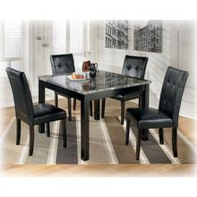 Square DRM Table Set (5/CN) Maysville - Black Collection Ashley at Aztec Distribution Center Houston Texas