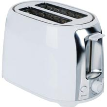 2-Slice Cool-Touch Toaster with Extra-Wide Slots (White and Stainless Steel)
