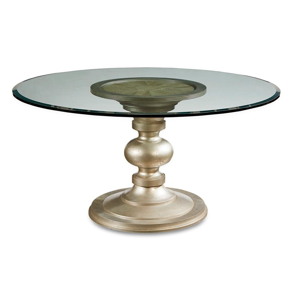 See Details - Morrissey Wallen Round Dining Table 54inches Glass Top