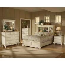 Wilshire 5pc Queen Bookcase Bedroom Suite