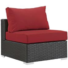 Sojourn Outdoor Patio Fabric Sunbrella® Armless in Canvas Red